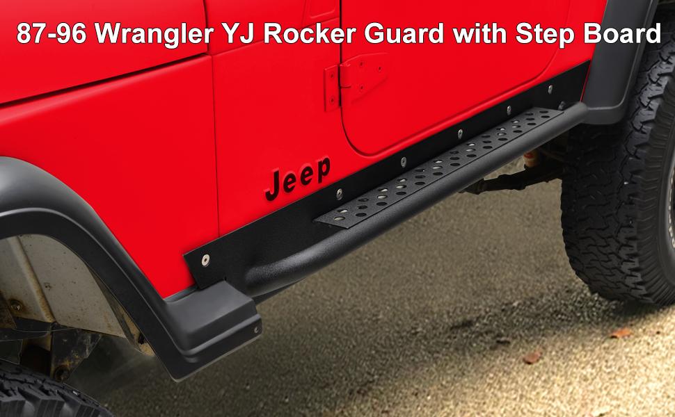 87-96 wrangler YJ rock slider