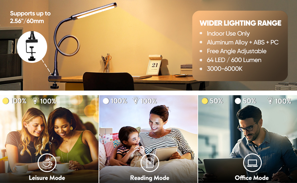 Clamp Lights LED Desk Lamps Table Lights