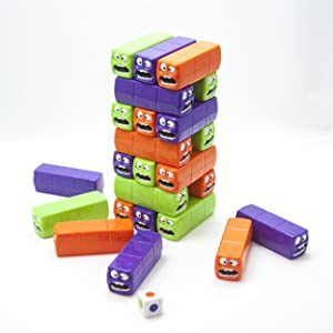 Fat Brain Toys Push 'n Pull Worm Tower