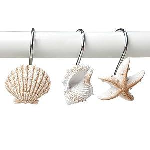 seashell shower curtain hook 5