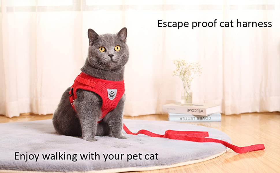 soft breathable escape proof comfortable padded jacket cat vest harness