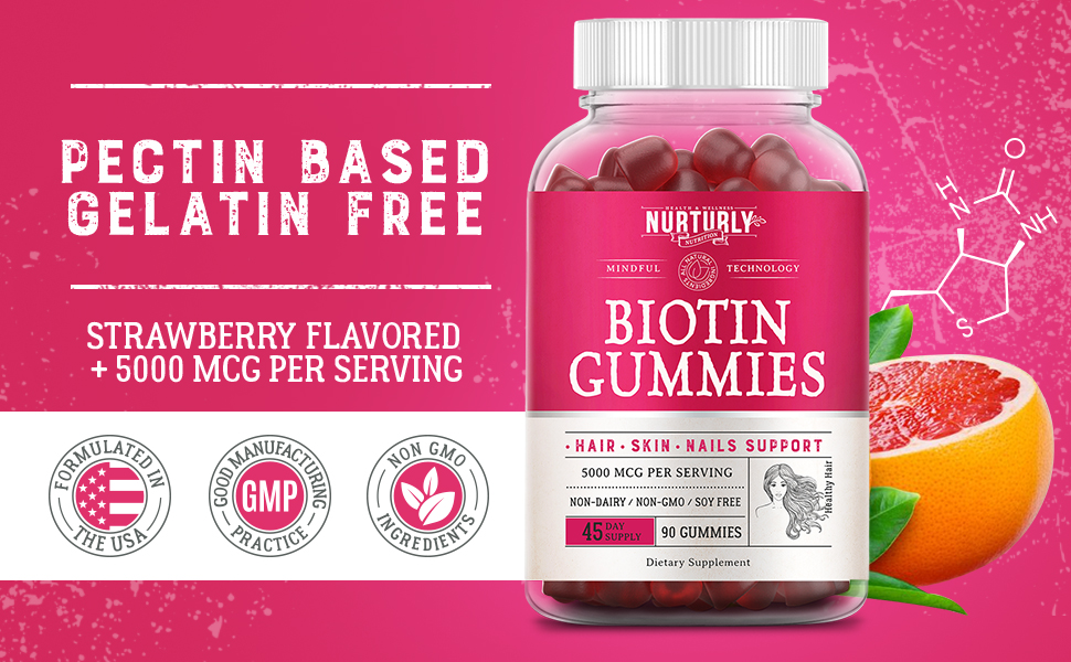 biotin gummies for hair growth nail strengthener immune support hair vitamins vitamins supplements
