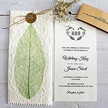 Real Dry Flower Vintage Wedding Invitations