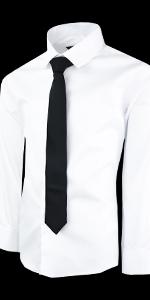 Boys White Dress Shirt with Tie