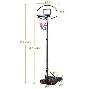 basketball goals portable adjustable