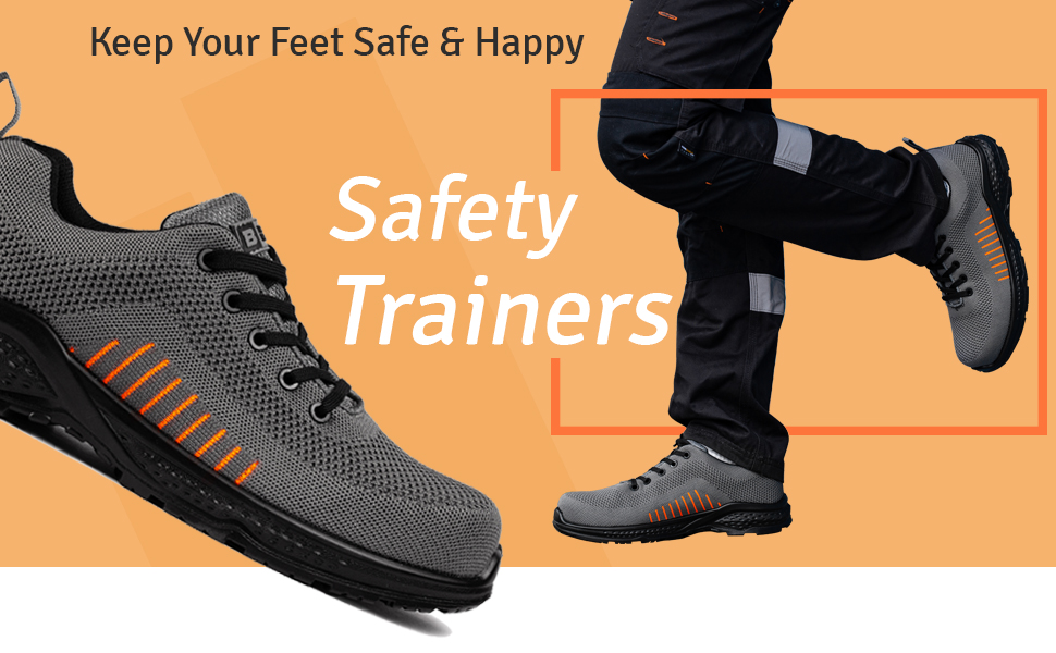 Non-metallic hiking boots Metal-free safety trainers for work sites