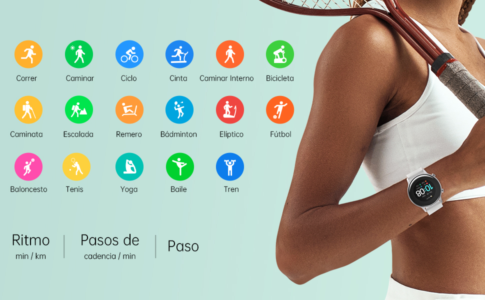 UMIDIGI Urun S Smartwatch Mujer Hombre Reloj Inteligente con Monitoreo de Oxígeno en Sangre y Frecuencia Cardíaca, Seguimiento del Sueño, Reloj de ...