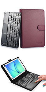 """Cooper Touchpad Executive leather keyboard case with mouse touchpad for 7-8"""" tablets"""