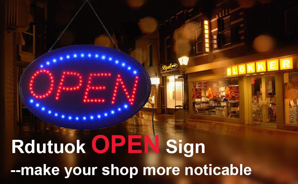 Bigger OPEN SIGN