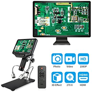 Monitor and microscope display simultaneously