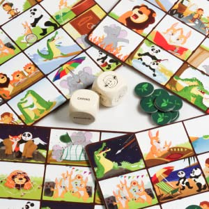 A day in the jungle board game for boys and girls 5 year old. best educational gifts for kids