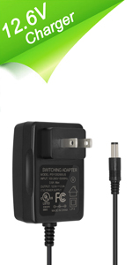12.6V/2A AC/DC Charger for 12V Series Rechargeable Li-ion Battery Pack