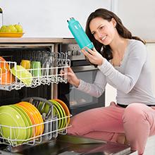 Dishwasher safe water bottle