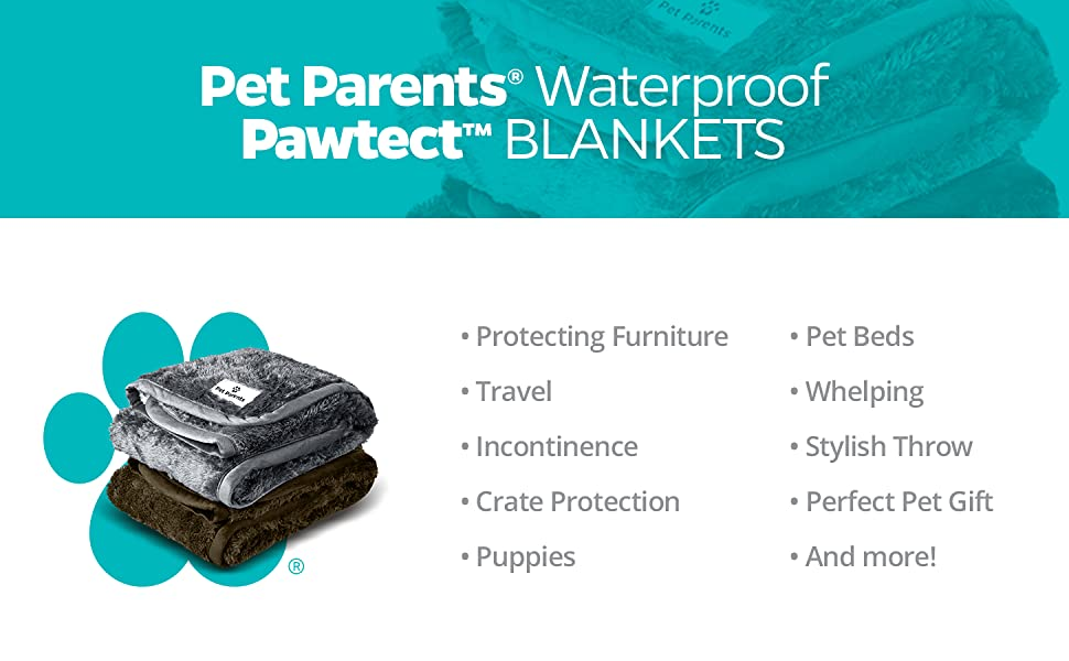Waterproof Pet Blanket, dog blanket for incontinence, cat blanket for crate protection