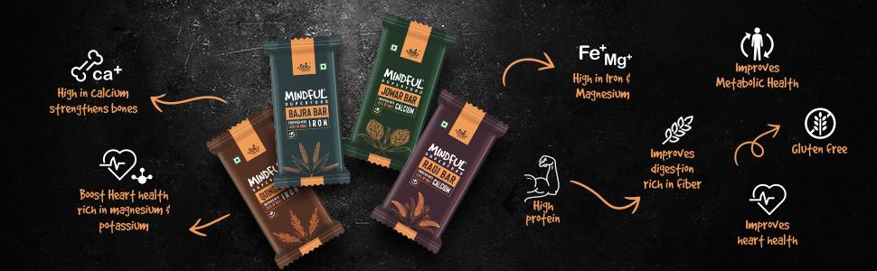 millet bars benefits, benefits of millet, energy bars, snack bars, nutrition bars