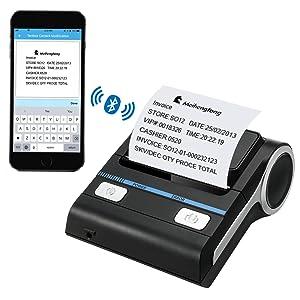 80 mm Impresora térmica Bluetooth recibo iOS Android POS USB ...