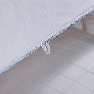 Double aiguille coutures et bords passepoilées