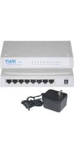 8 Port 10/100 Fast Ethernet Switch 8 RJ45 Female Ports MDI-II Uplink port
