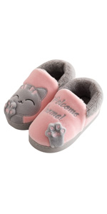 Us Big Kid Black Mona Cat Kid Slippers Indoor /& Outdoor Open Toe Soft Sandals Child Casual Shoes for Boys Girls 12 B M