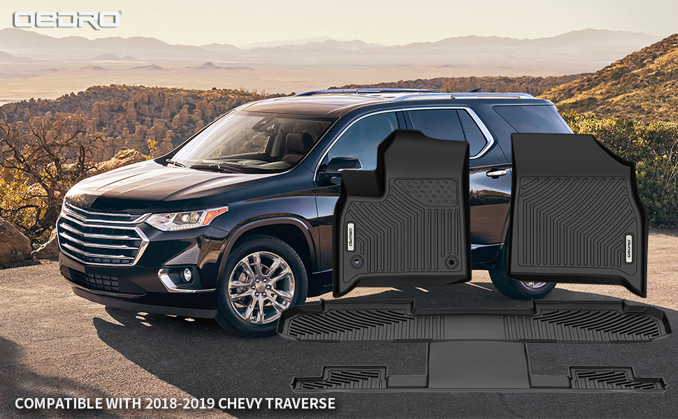 OEDRO Floor Mats Compatible with 2018-2020 Chevy Traverse