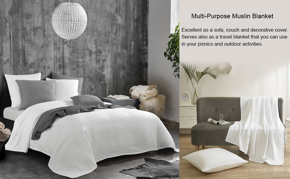 Soft Skin-Friendly Breathable and Lightweight - Perfect for Home Decoration Couch Bed Sofa