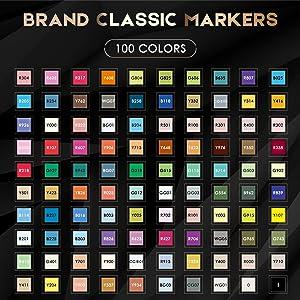 Amazon.com: Caliart 100 Colors Artist Alcohol Markers Dual