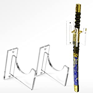 Lightsaber Sword Stand Display Rack Heavy Duty Acrylic Premium Finish