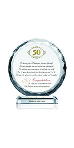 Crystal Central Personalized 50th Wedding Plaque