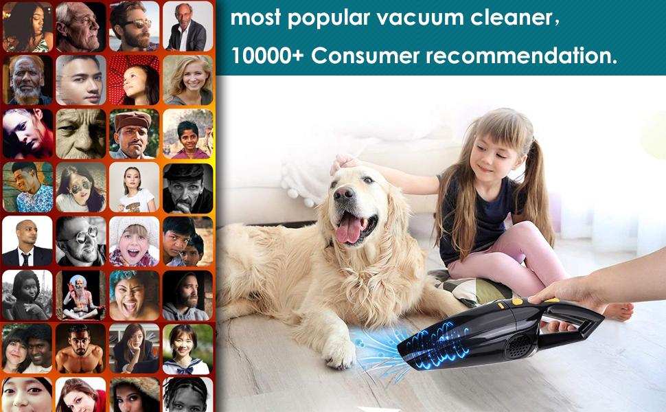 Car vacuum cleaners home pet wireless mini dog small lightweightwet