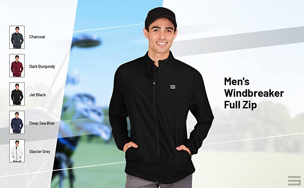 Quick dry moisture wicking jackets for golf and casual wear.
