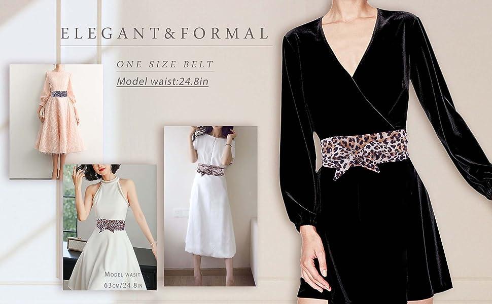 Womens Fashion Rhinestoned Window Buckle on Studded Leatherette Belt