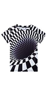 boy print short sleeve t shirt