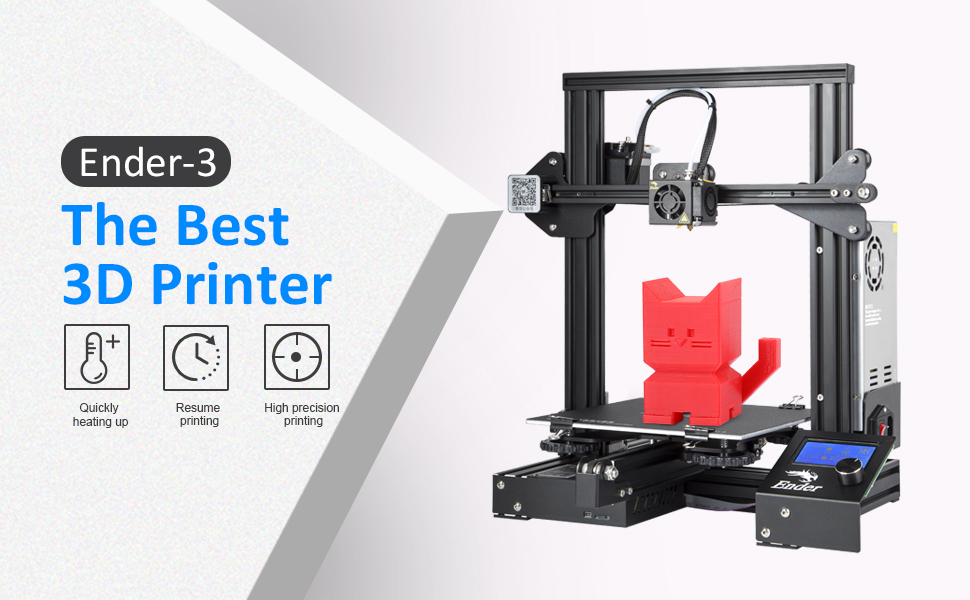 Comgrow Creality 3D Ender 3 3D Printer with Resume Printing Function  220x220x250mm