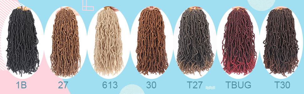 Xtrend 6 Packs 18 Inch Nu Faux Locs Crochet Hair Blonde