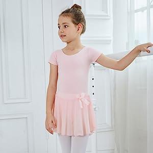 pink-short sleeve leotard