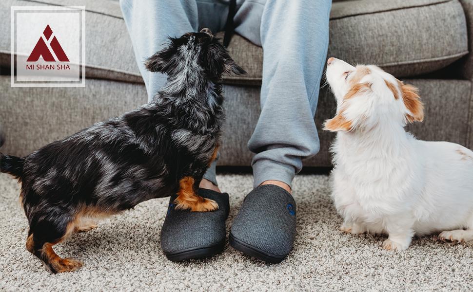 Zapatillas de Estar en Casa Hombre Mujer Memory Foam para Invierno Otoño Cómodas Blanditas Calientes