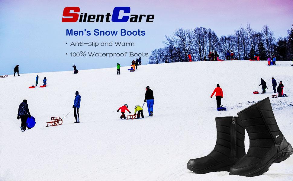 Anti-slip and Warm 100% Waterproof Boots