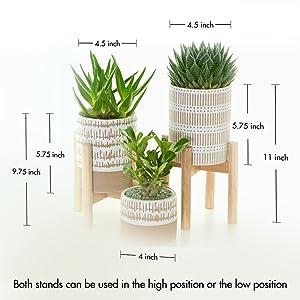 mid century wood planter stands for pots adjustable planter pot stands