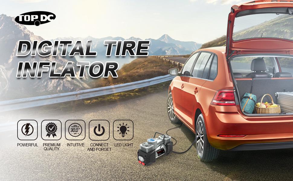 tire inflator, air compressor
