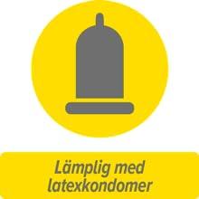 Lämpligt med latexkondomer