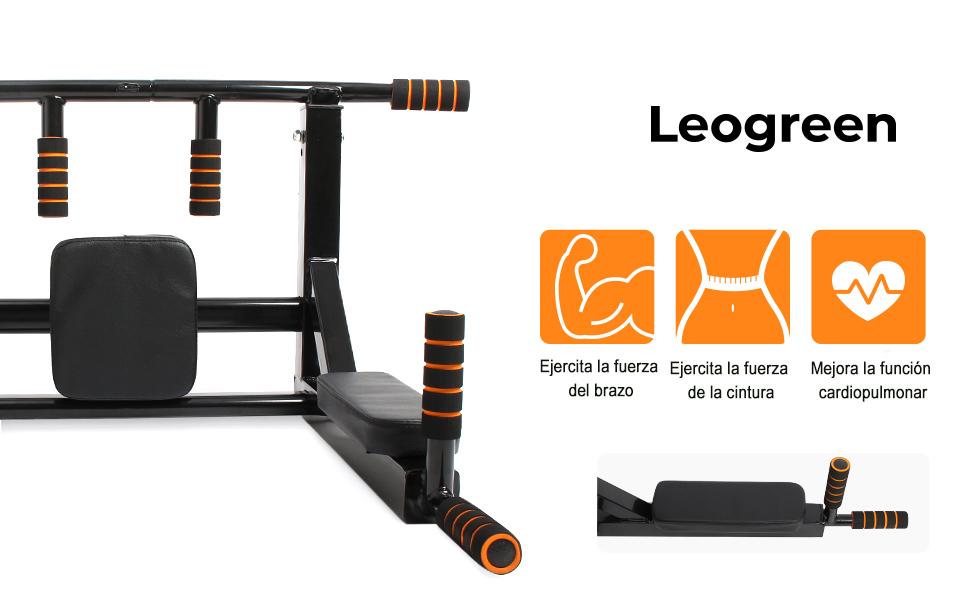Leogreen Barra de flexiones de pared, Barra de flexiones 2 en ...