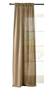 burlap curtains long