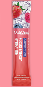optimind alternascript focus energy hydration electrolytes water booster berry