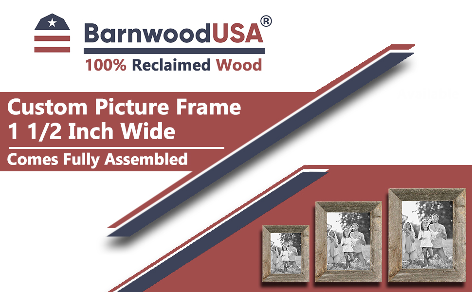 Custom Picture Frame 1 1/2 Inch Wide Banner