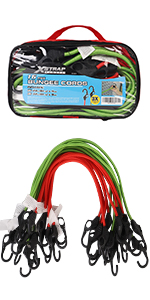 32inch Green XSTRAP 16PK Bungee Cords 24inch Red