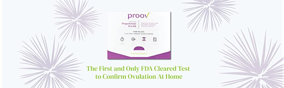 the first and only fda cleared test to confirm ovulation at home