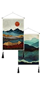 Mountain Tapestry Sunset tapestry wall hanging