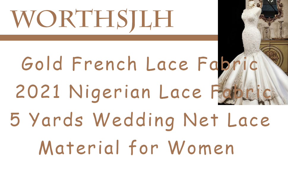 gold tulle lace fabric 5 yards for african wedding dress nigeria party lace fabric beaded embroidery