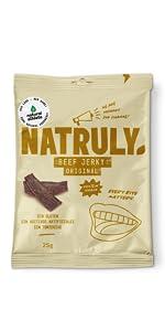 NATRULY Beef Jerky Original, Carne Seca 100% Vacuno, Sin ...