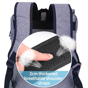 breathable shoulder straps